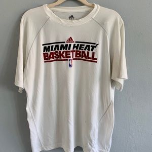 Men's Vintage Adidas L NBA Miami Heat Warm Up and